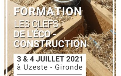 Formation écoconstruction – Juillet 2021